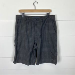 O'Neill Plaid Flat Front Shorts Size 34